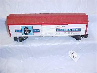 Lionel 7700 Uncle Sam Box Car