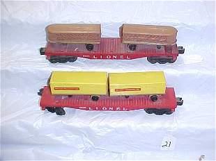 2-Lionel Flat Cars