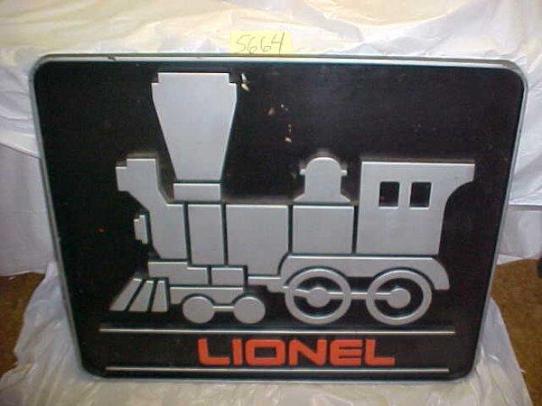 5664: Lionel Plastic Train Sign 36x30