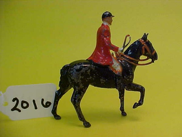 2016: Britains the meet, mounted huntsman, derby hat