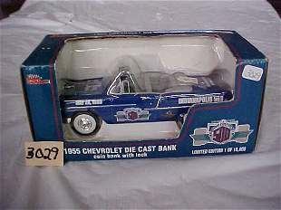 Racing Champions 1955 Chevy die-cast coin bank
