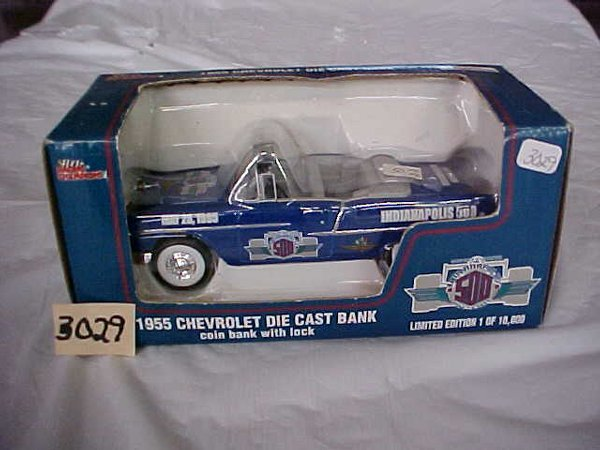 3029: Racing Champions 1955 Chevy die-cast coin bank