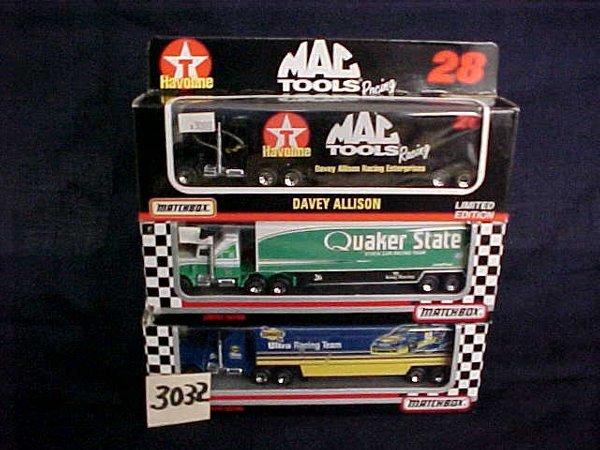 3032: 3 Matchbox Nascar Transporters