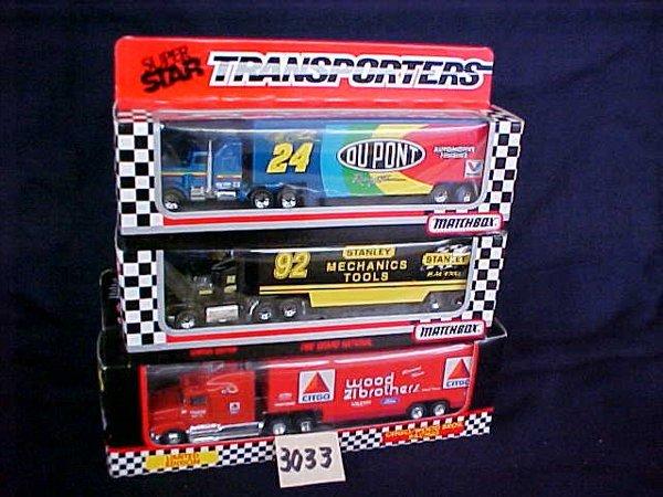 3033: 3 Matchbox Superstars Nascar Transporters