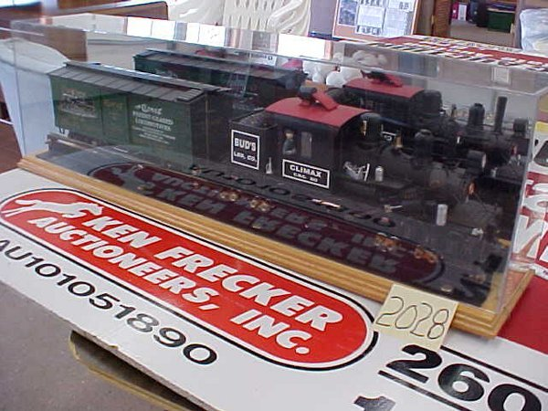 2028: Climax Mfg train bud's LBR co Climax 203 scale tr