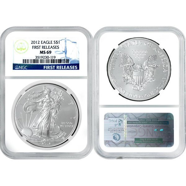 2012 Eagle First Releases MS69 NGC - Blue Label