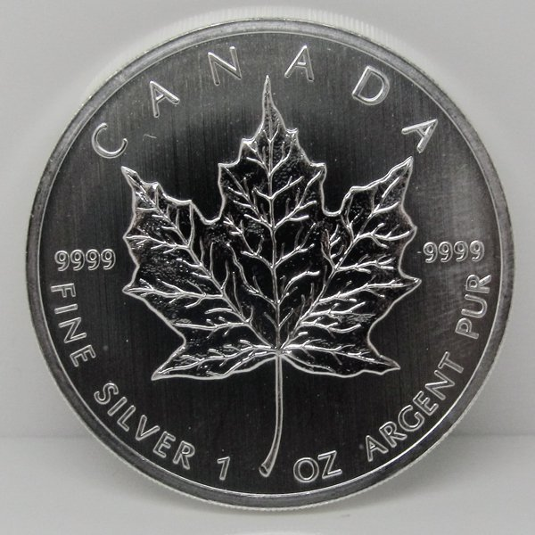1 Oz Canadian Silver Maple Leaf - Brilliant Uncirculate
