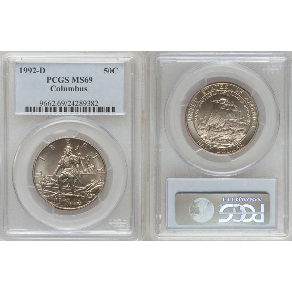 1992-D Columbus Half Dollar MS69 PCGS