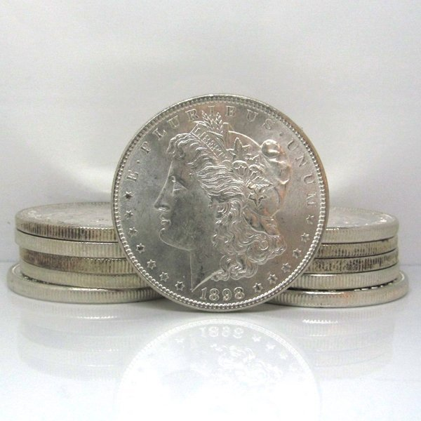 10-Coin Set: Morgan Silver Dollars - Uncirculated