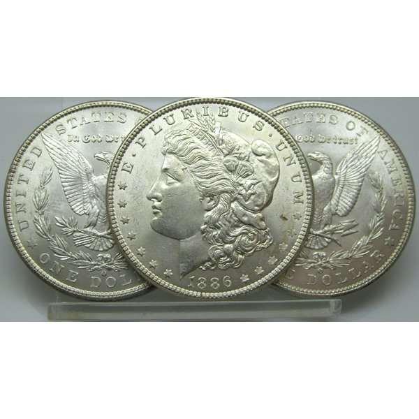 3-Coin Set: Morgan Silver Dollars - Uncirculated