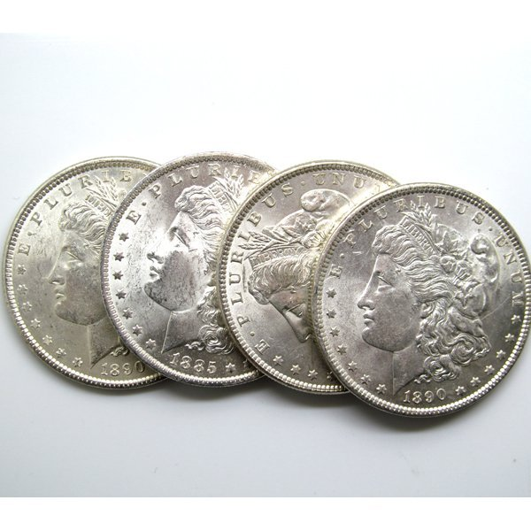 4-Coin Set: Morgan Silver Dollars - Uncirculated