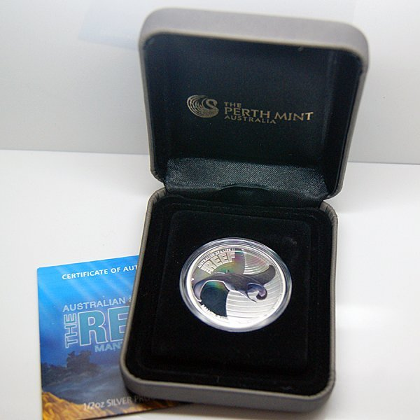2011-P 1/2 Oz Proof Silver - The Reef Manta Ray