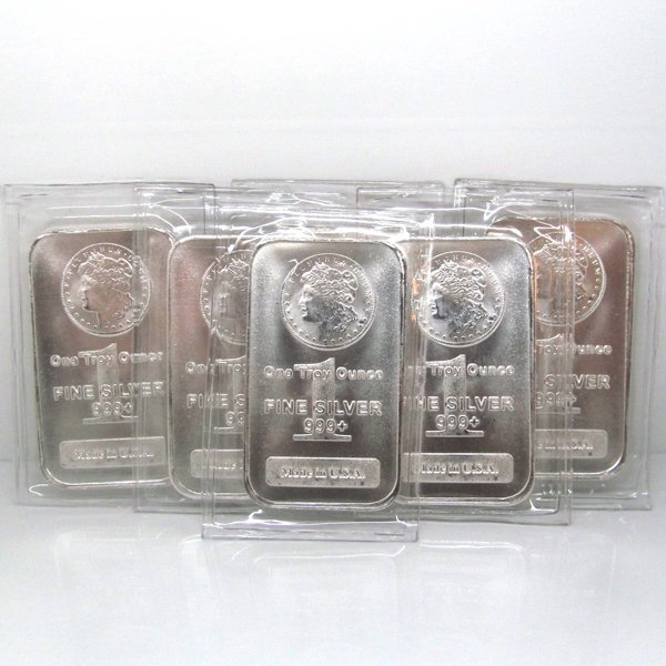 6-Bar Set: Morgan Design .999 Fine Silver Bars