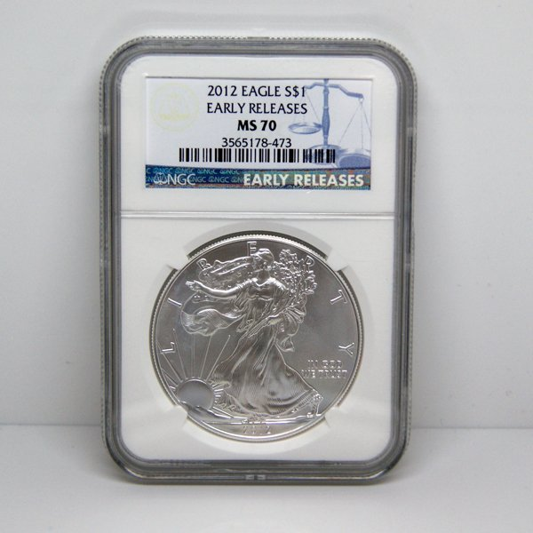 2012 Eagle Early Releases MS70 NGC - Blue Label