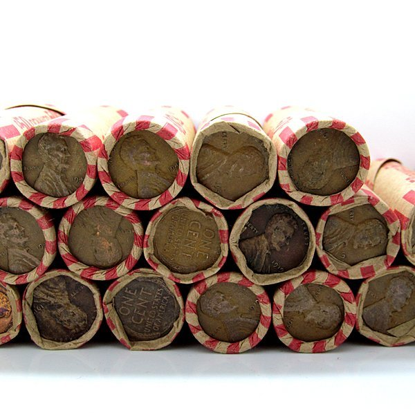 1909-1958 Lincoln Wheat Cent Roll of 50 Coin