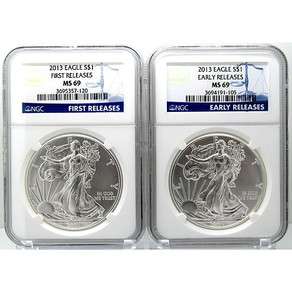 2013 Eagle Early&First Release MS69 NGC Blue Label