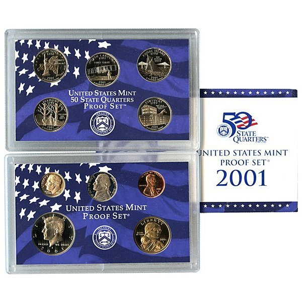 2001-S United States 10-Coin Proof Mint Set