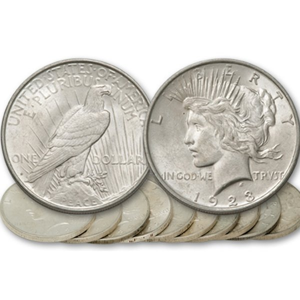 80-Coin Set: Peace Silver Dollars - Uncirculated