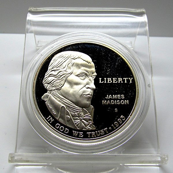 1993-S J Madison Bill of Rights Proof Silver Dollar