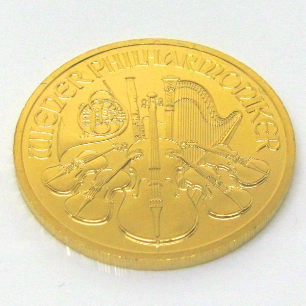 1/4 Oz BU 24k Gold Austrian Vienna Philharmonic