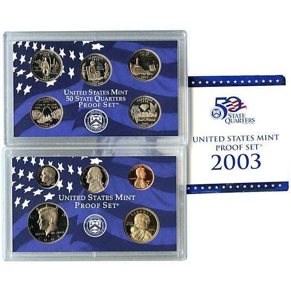 2003-S United States 10-Coin Proof Mint Set