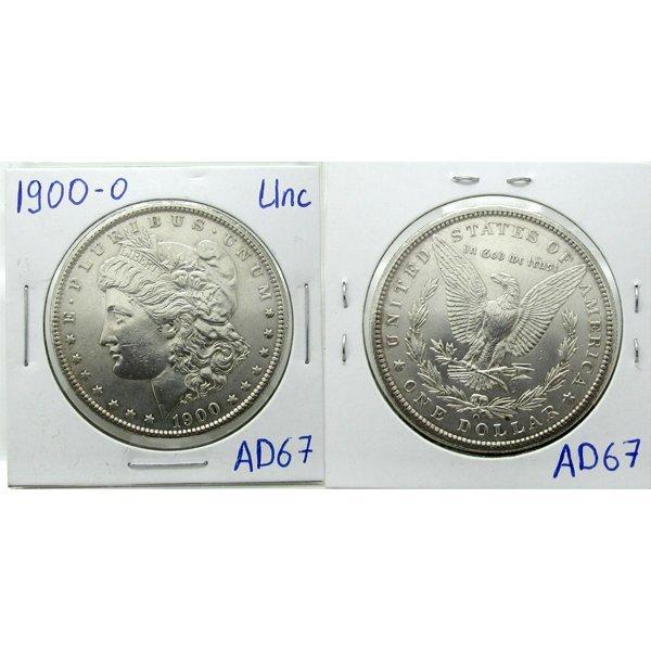 1900-O Morgan Silver Dollar - Uncirculated #AD67