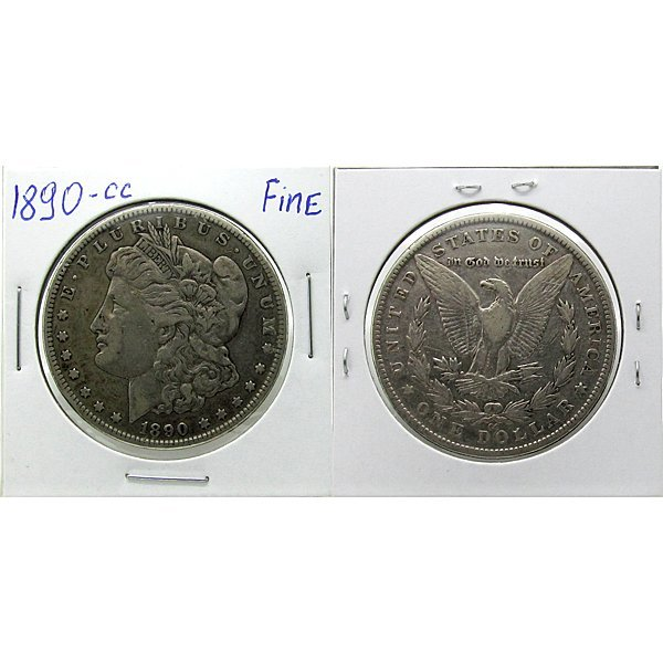 1890-CC $1 Morgan Dollar - Fine