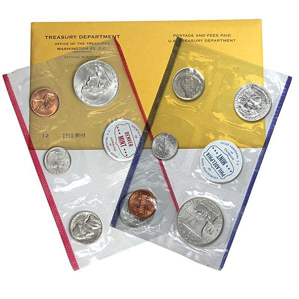 1959-D & P United States Mint Silver Coin Set