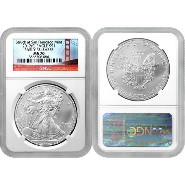 2012-(S) Eagle Early Release MS70 NGC Bridge Label