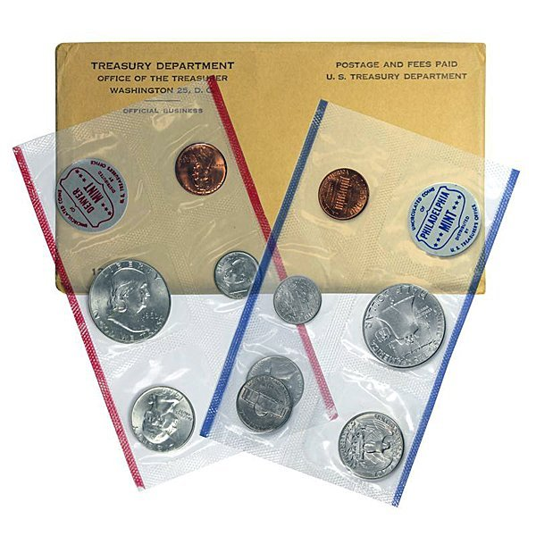1960-D & P United States Mint Silver Coin Set