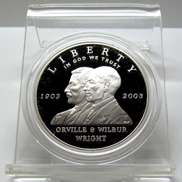 2003-P First Flight Centennial Proof Silver Dollar