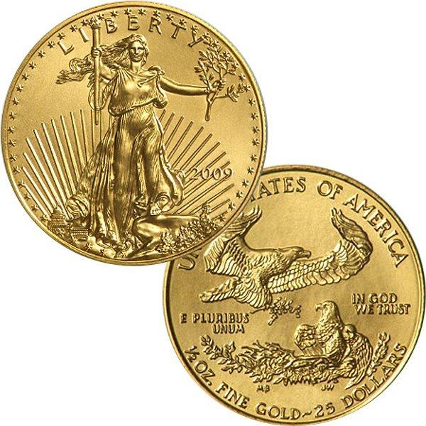 1/2 Oz Gold American Eagle - Brilliant Uncirculated