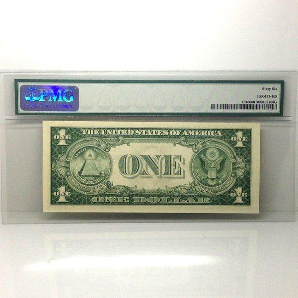 1935-G $1 Silver Certificate Gem UNC 66 PMG - 2