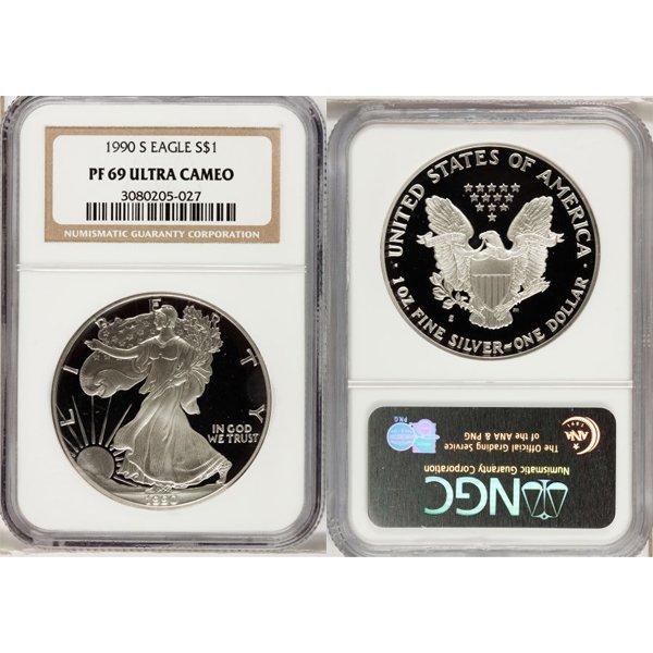 1990-S 1 Oz Proof Silver Eagle PF69 NGC