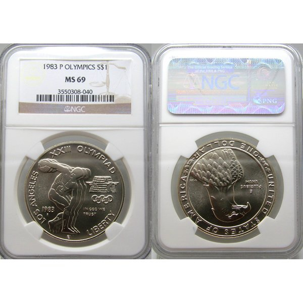 1983-P Olympic Silver Dollar MS69 NGC