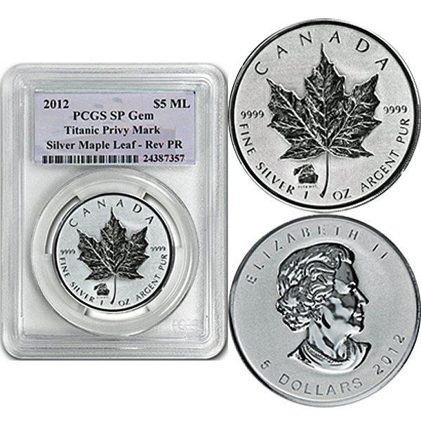 2012 Silver Maple Leaf Titanic Privy SP GEM PCGS