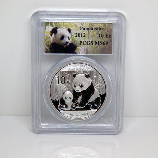 2012 1 Oz Silver Chinese Panda MS69 PCGS