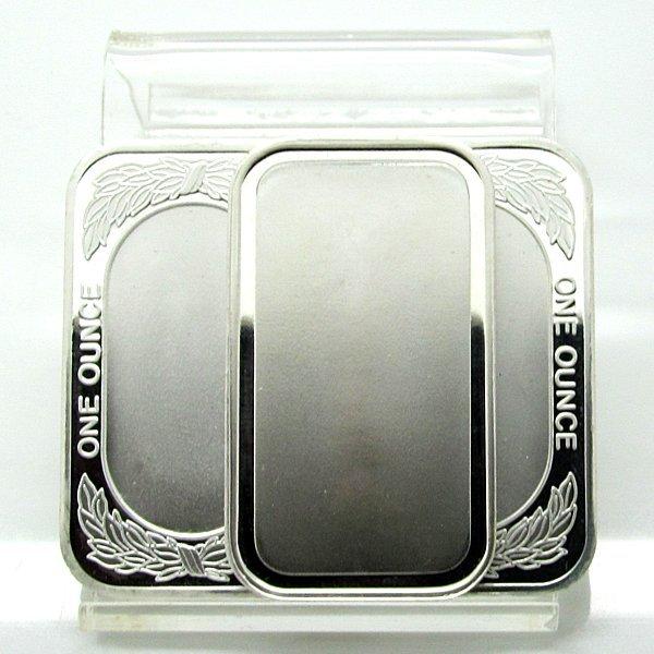 3-Bar Set: 1 Oz Blank Design .999 Fine Silver Bars