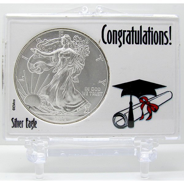 2013 Silver Eagle - Congratulations Snap Lock