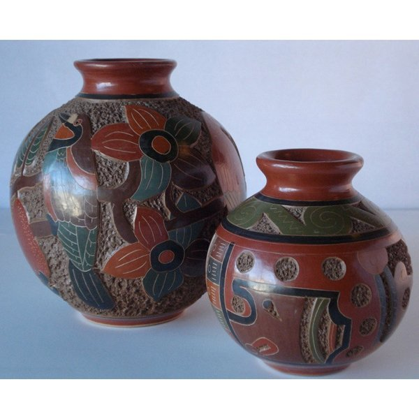 Set of 2 Clay Pots from Nicaragua