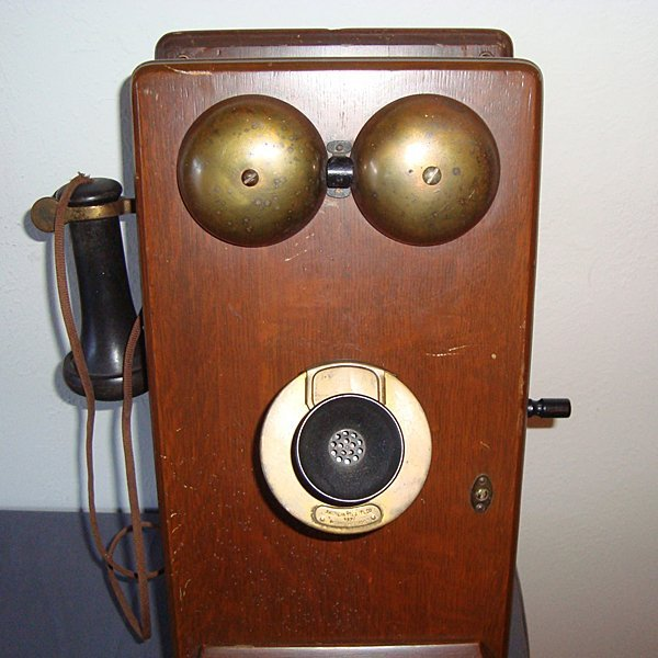 1900s Wooden Wall Telephone - All Original