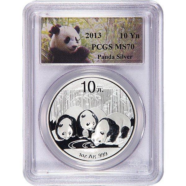 2013 1 Oz Silver Chinese Panda MS70 PCGS