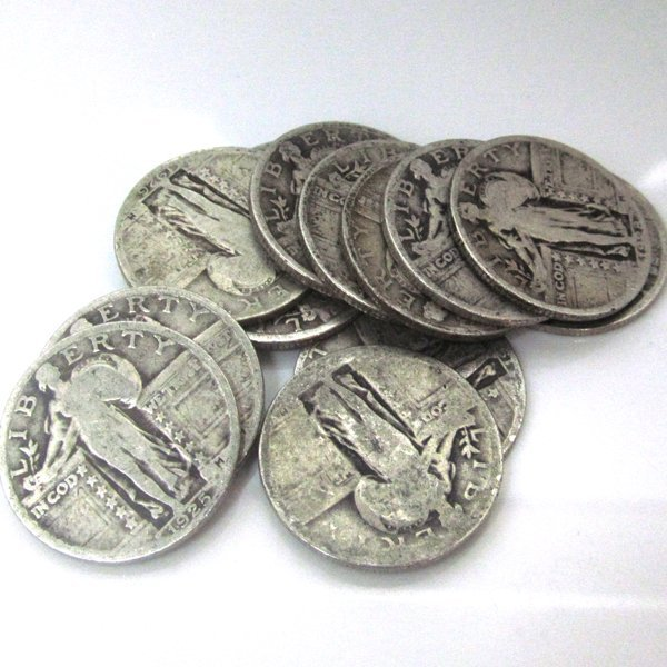 90% Silver Standing Liberty Quarters $3 Face Value