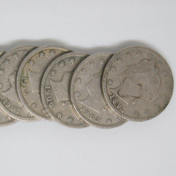 5-Coin Set Liberty Head V Nickel - Full Date