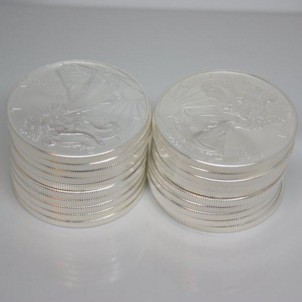 10-Coin Set American Silver Eagles - Unc