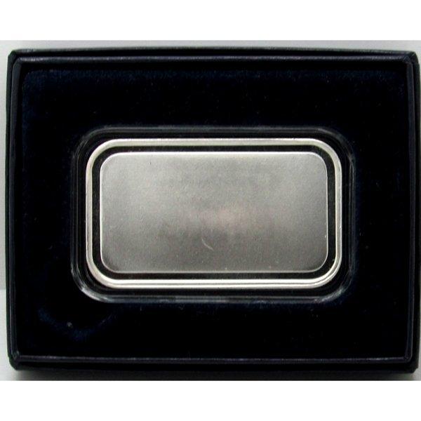 1 Oz Blank Design .999 Fine Silver Bar - w/Box