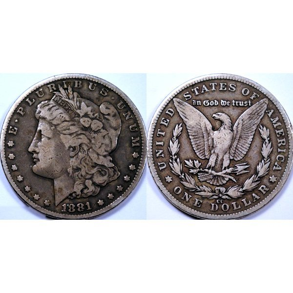 1881-CC $1 Morgan Dollar - Extra Fine
