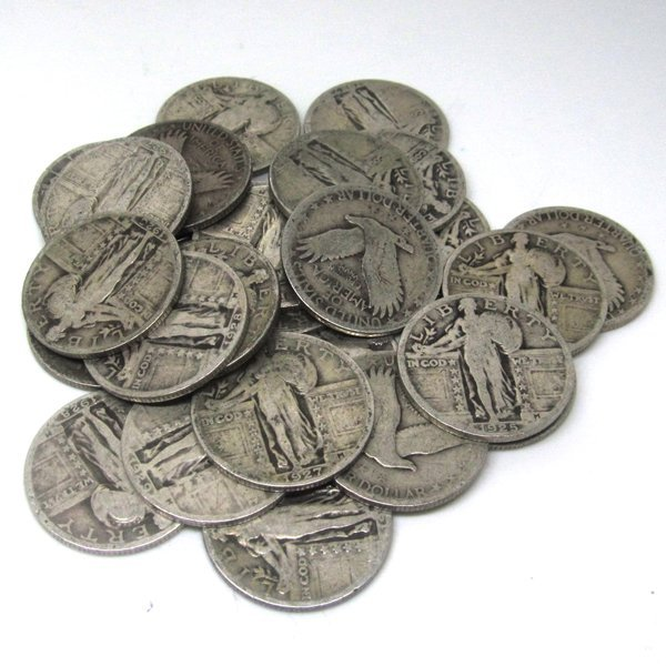 90% Silver Standing Liberty Quarters $6 Face Value