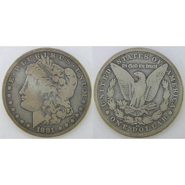 1881-CC $1 Morgan Dollar - Very Good