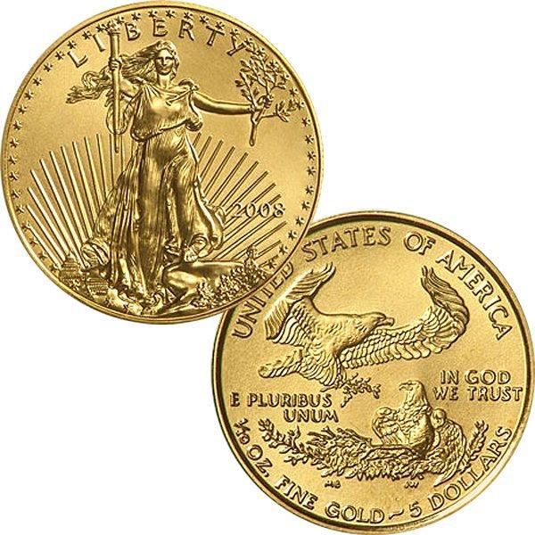 1/10 Oz American Gold Eagle - Uncirculated